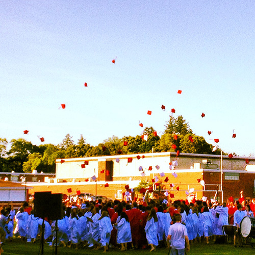 Hingham High School graduation.