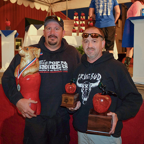 TRUEBUD won their 15th KCBS Grand Champion title.  Photo © Rob Burke