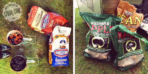 Kingsford Charcoal and Western Wood Chunks