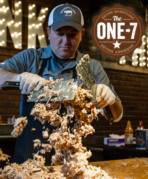 Sam Jones at the Whole Hog Extravaganza produced by OnCue Consulting.
