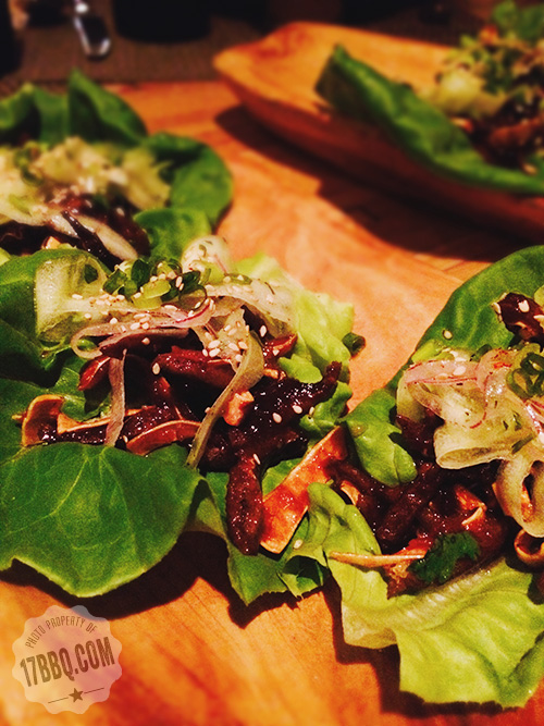 Crispy Pig Skin Lettuce Wraps