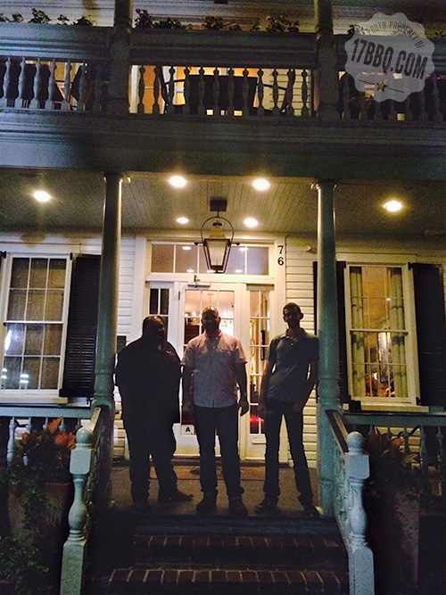 Group on the porch at Husk