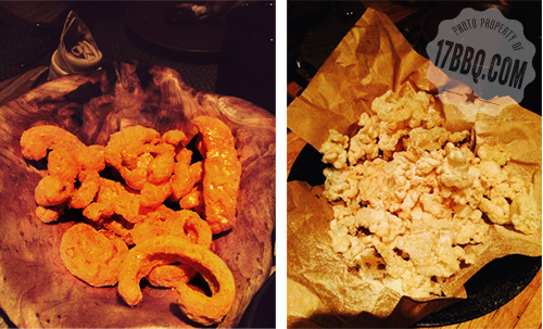 Pork Rinds and Compressed Beef Tendon