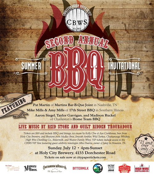 Charleston Brown Water Society Second Annual Summer Invitational BBQ