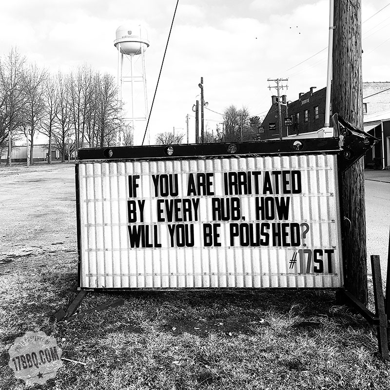 If You Are Irritated By Every Rub, How Will you Be Polished?