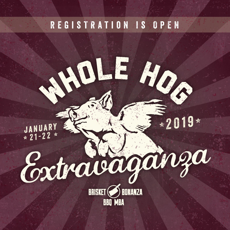 Registration is Open for Whole Hog Extravaganza 2019