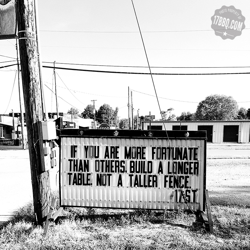 If You Are More Fortunate Than Others, Build a Longer Table, Not a Taller Fence.